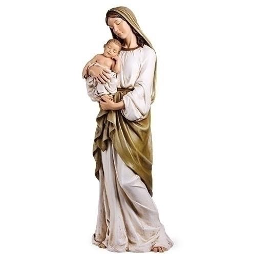 "37"" Madonna & Child Statue   Resin/Stone"