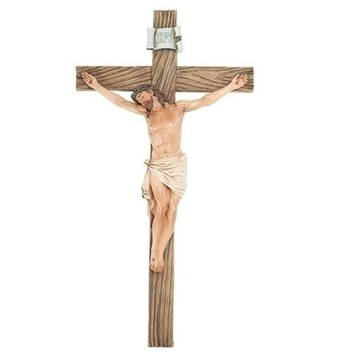 "21"" Wall Crucifix   Resin"