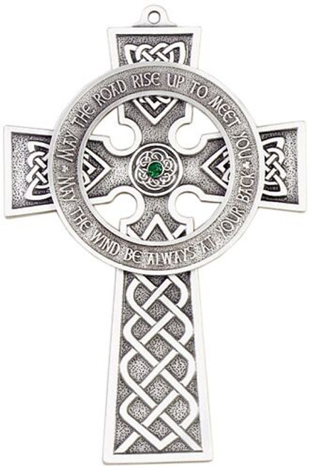 "5"" Celtic Cross with Handset Austrian Cystal Center"