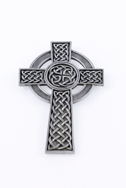 """5"""" Fine Pewter Knotted Center Celtic Cross, Pewter Finish"""