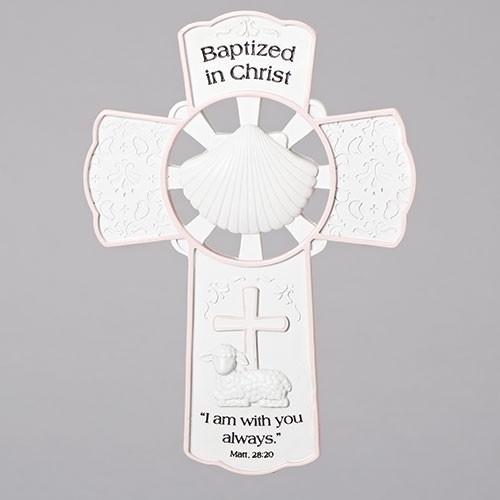 "8"" Baptism Wall Cross - Girl"