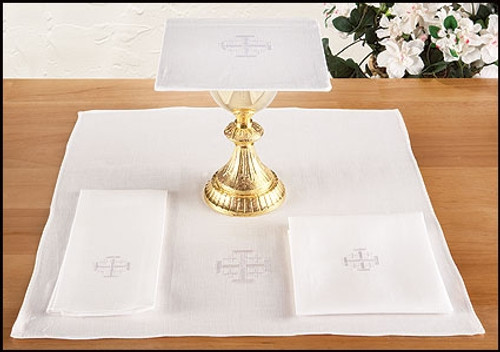 Jerusalem Cross Altar Linens | Multiple Materials | Packs of 4