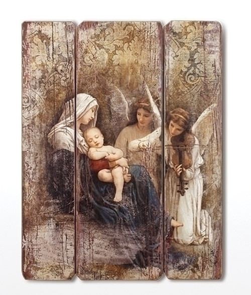 "26"" Song of Angels Wood Pallet Decorative Panel"