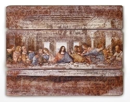 "26"" Last Supper Wood Pallet Decorative Panel"