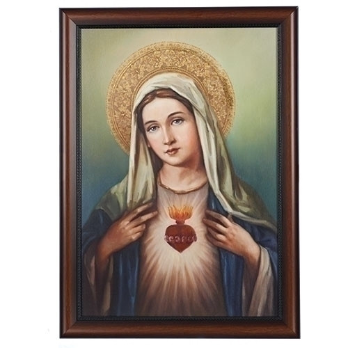 "27"" Immaculate Heart Framed Art"