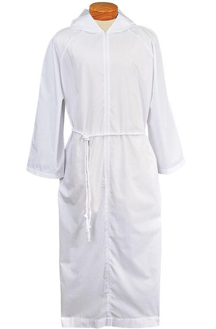 Altar Server Alb with Capuche/Hood | Lightweight Poly/Cotton