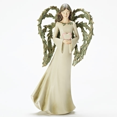 "15"" Angel with Leaf Wings Statue 