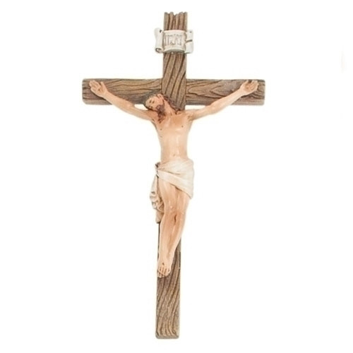 """8"""" Traditional Wall Crucifix   Resin"""