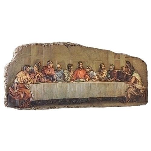 "18.5""W Last Supper Stone Plaque | Resin/Stone"