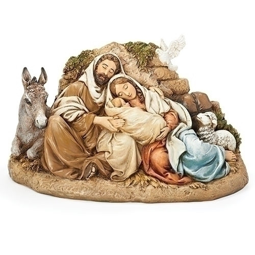 "9.5"" Restful Holy Family Statue 