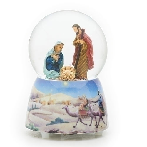 """5"""" Holy Family Snow Globe 