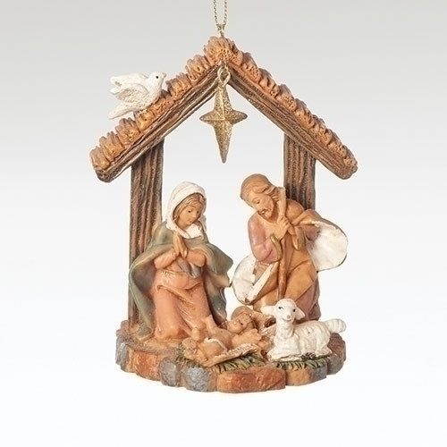 "3.5"" Holy Family Stable Ornament 
