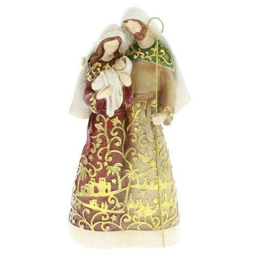 "9.75"" Gold Leaf Holy Family Papercut Design Figure   Resin/Dolomite"