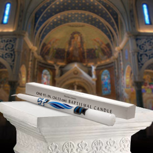 """10"""" Baptismal Taper Candle 