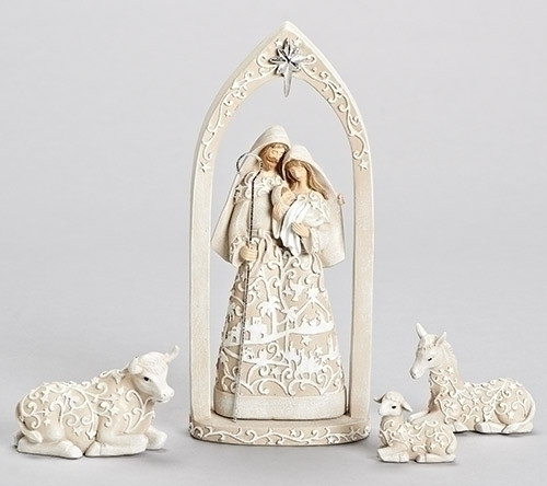 "10"" Nativity with Holy Family in Arch 