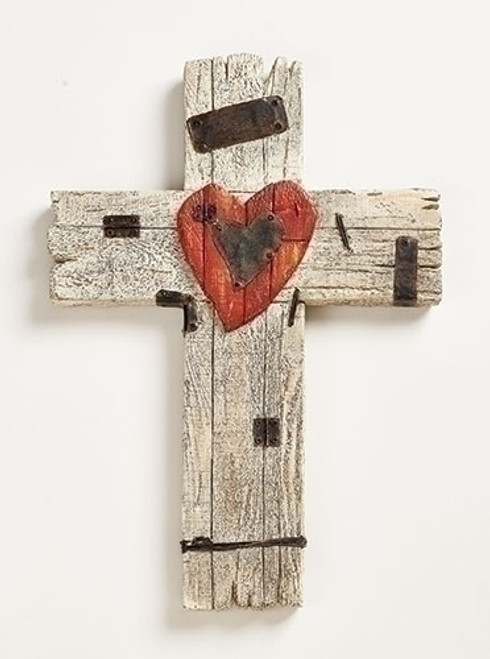"15"" Heart Wall Cross 