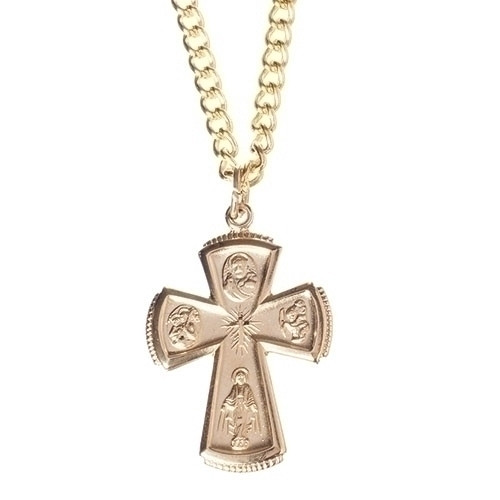 "1"" Gold Filled 4-Way Cross Pendant 