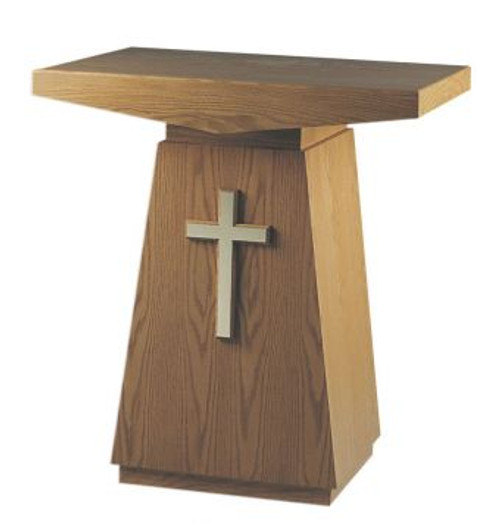 #507 Credence Table with Cross | Multiple Finishes & Materials Available