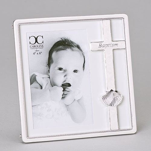 "7.25"" Baptism Shell Frame 