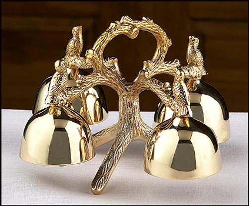 Messenger of God 4-Bell Altar Bells   Brass