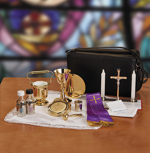 Cemetery Travel Kit with Holy Water Pot