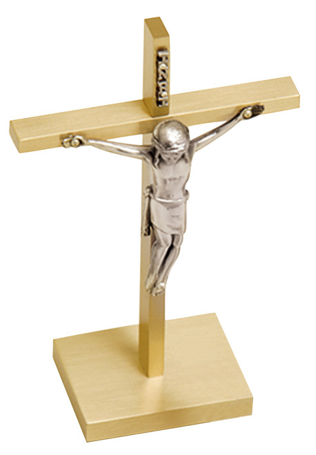 "6 1/2"" Altar Crucifix with Silver Corpus 