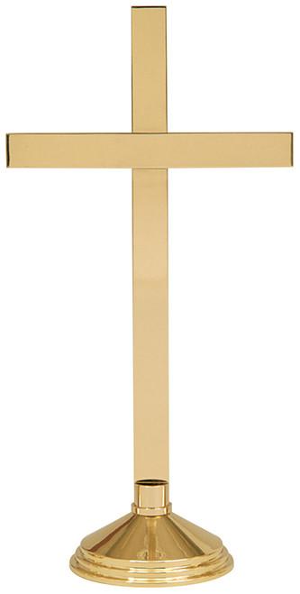 "24"" Altar Cross | Solid Brass"