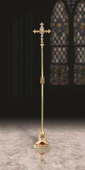 "85"" San Pietro Processional Crucifix | Polished Brass"