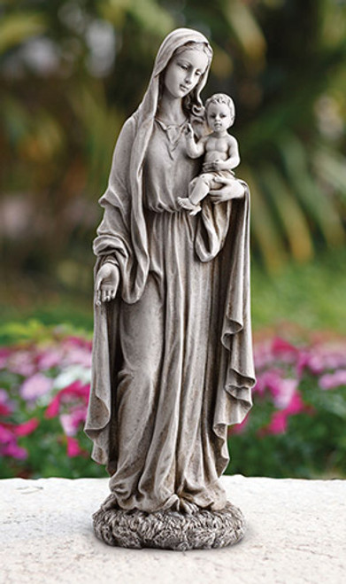 "23"" Our Lady Of Grace And Baby Jesus Garden Statue 