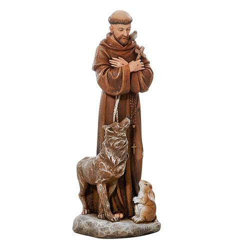 "8"" St Francis Outdoor/Garden Statue | Resin/Stone"