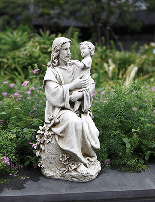 "20"" Jesus with Child Garden Statue 
