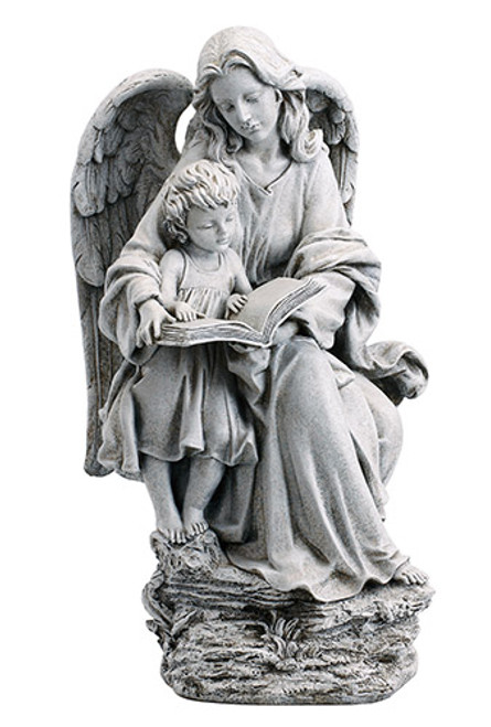 """19"""" Guardian Angel with Child Garden Statue 