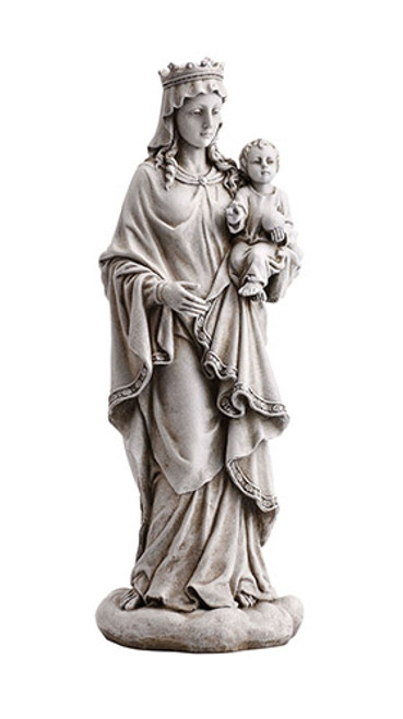 "18.5"" Mary Queen Of Heaven With Child Garden Statue 
