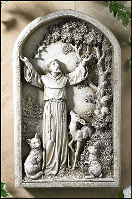"13"" St Francis Garden Plaque 