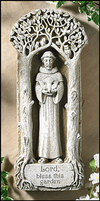 "15"" St Francis Garden Plaque 