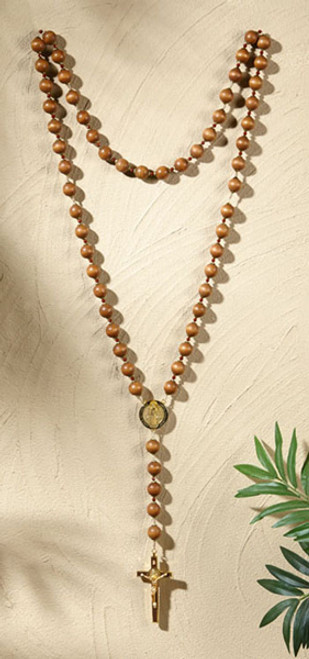 St Benedict Wall Rosary   Wood