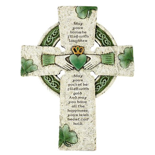 "10"" Irish Blessing Cross 