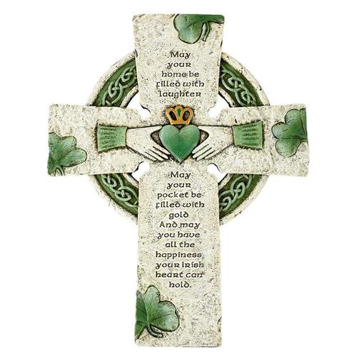 "10"" Irish Blessing Cross | Resin"
