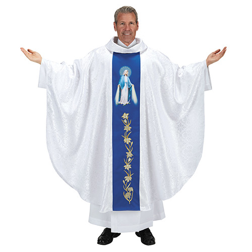 Our Lady of Grace Chasuble | Roll Collar | 100% Poly