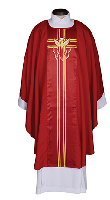 Confirmation/Pentecost Printed Chasuble | 100% Polyester