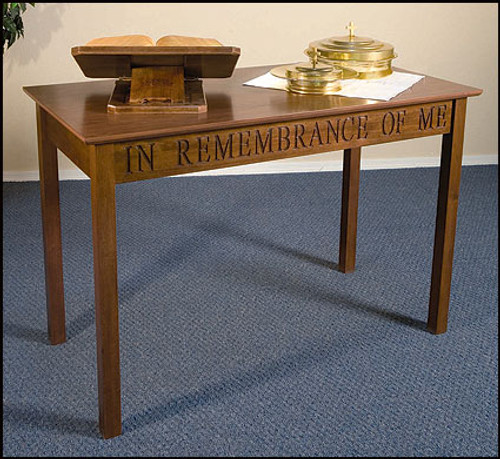 """In Remembrance Of Me Communion Table 