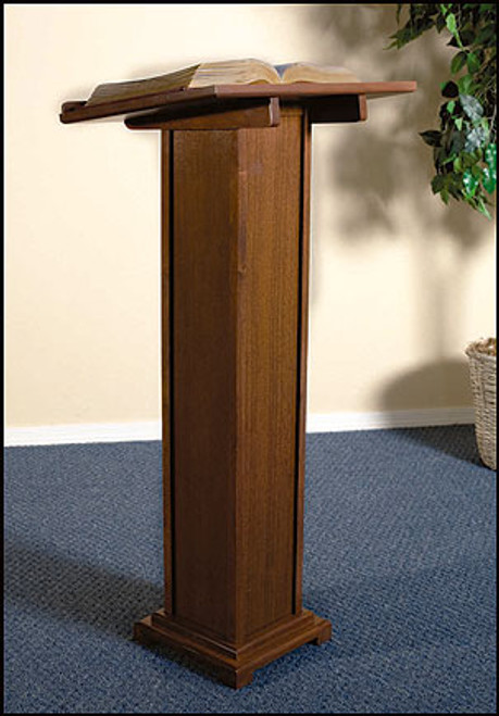 "Lectern | Walnut Stain | 43""H"