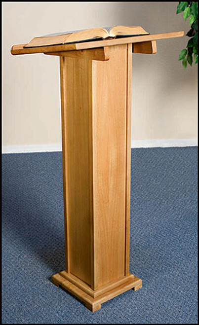 "Lectern | Pecan Stain | 43""H"