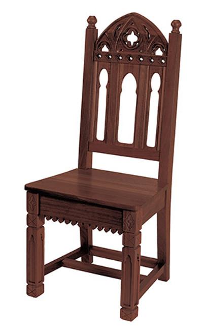 Gothic Side Chair | Walnut Stain