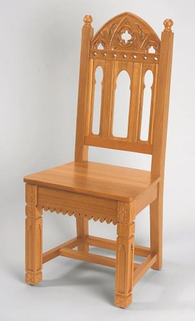 Gothic Side Chair | Medium Oak Stain
