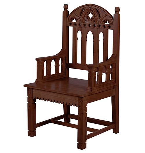 Gothic Celebrant Chair | Walnut Stain