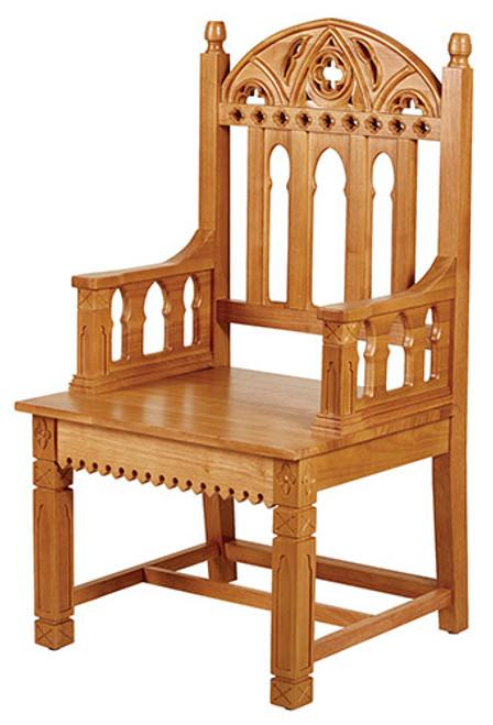 Gothic Celebrant Chair | Medium Oak Stain