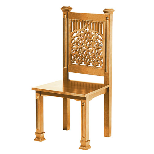 Tree Of Life Side Chair | Medium Oak Stain