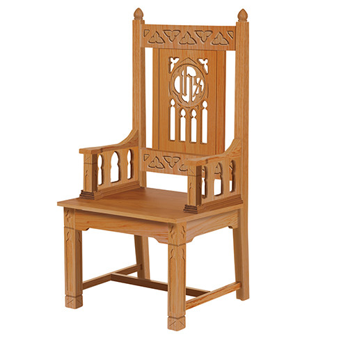 Florentine Collection Celebrant Chair | Medium Oak Stain
