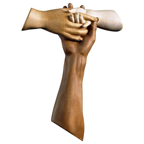 Cross Of Friendship Tau | Hand Carved In Italy | Multiple Sizes
